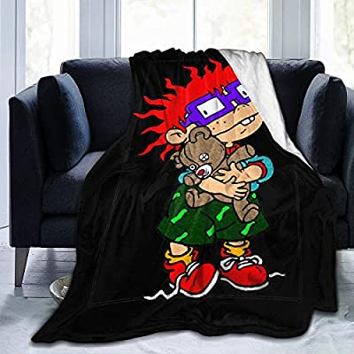 Jocasa Rugrats Blanket Flannel Fleece Throw Lightweight Cozy Couch Bed Soft and Warm Plush Quilt for Thanksgiving, Halloween, 60