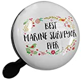 Small Bike Bell Happy Floral Border Marine Surveyor - NEONBLOND