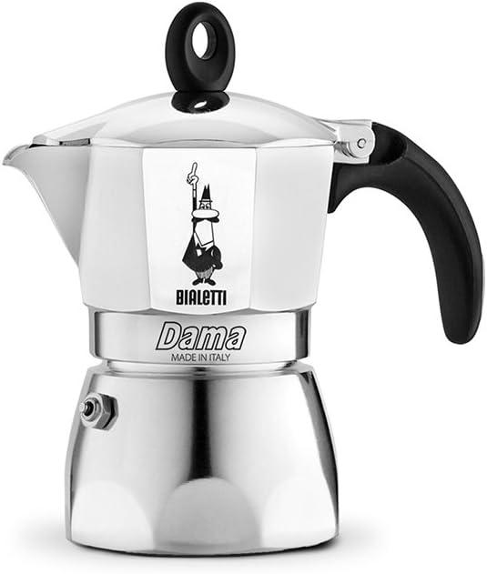 Bialetti Moka Dama Cafetera Italiana Espresso, 3 Tazas, Aluminio ...