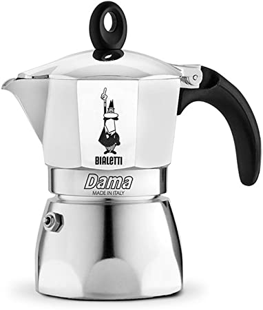 Bialetti Moka Dama Cafetera Italiana Espresso, 2 Tazas, Aluminio, Plateado: Amazon.es: Hogar