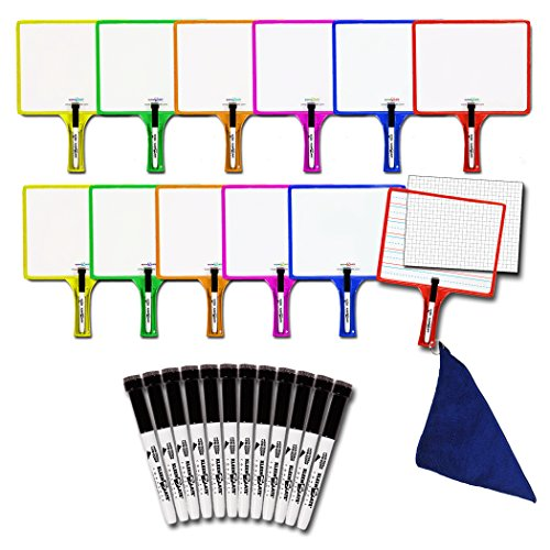 Set of 12 Customizable whiteboards w/dry erase sleeve & interchangeable graphic organizers + BONUS by KleenSlate (Image #1)