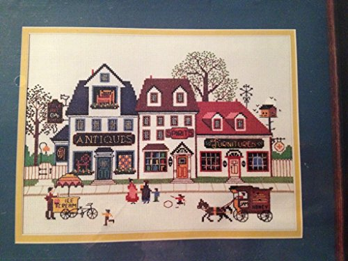 - Summer Street Scene Charles Wysocki Colletion - Cross Stitch Kit