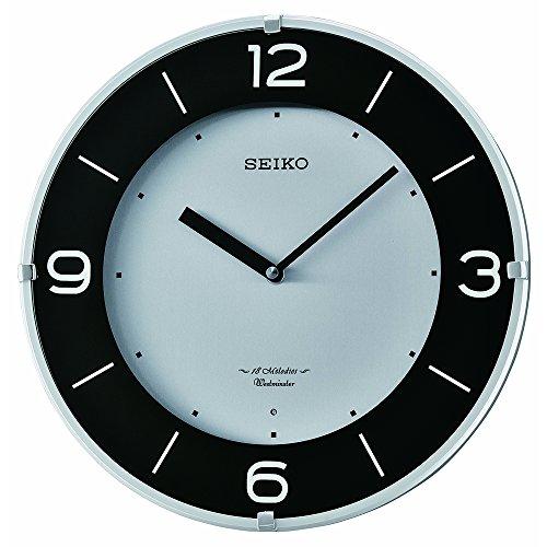 Plastic Wall Clock, Color:Silver-Toned (Model: ) - Seiko QXM358SLH