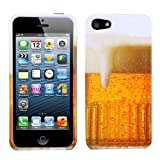 MYBAT IPHONE5HPCIM909NP Slim and Stylish Protective Case for iPhone 5 / iPhone 5S - 1 Pack - Retail Packaging - Beer-Food Fight