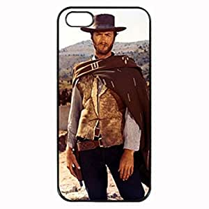 The Good, the Bad and the Ugly - Eastwood Pattern Silicone Rubber Non-slip Protective Cover Case Skin For Apple iPhone 5 5S , Black Case