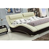 Napoli Modern Platform Bed Cream/Mocha (King)