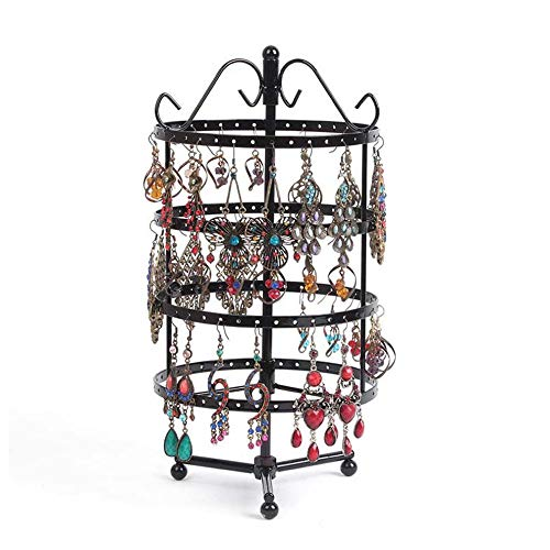 "PENGKE 4 Tiers Rotating Earring Spin Table, 144 Holes Earring Organizer Jewelry Display Stand for Earrings,12.2""x6"""