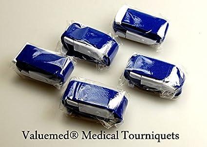 Pack of 5 Quality Valuemed® Medical Tourniquets for NHS A&E Doctors Paramedics & Nurses (5 Purple) Valuemed®