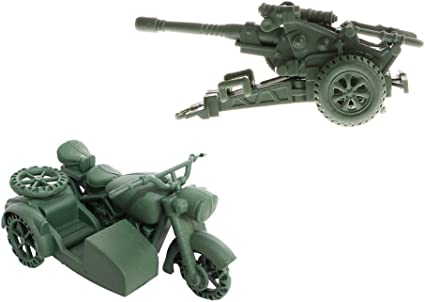 Military Anti Aircraft Gun Cannon Model Army Men Kids Boys Educational Toy Gift