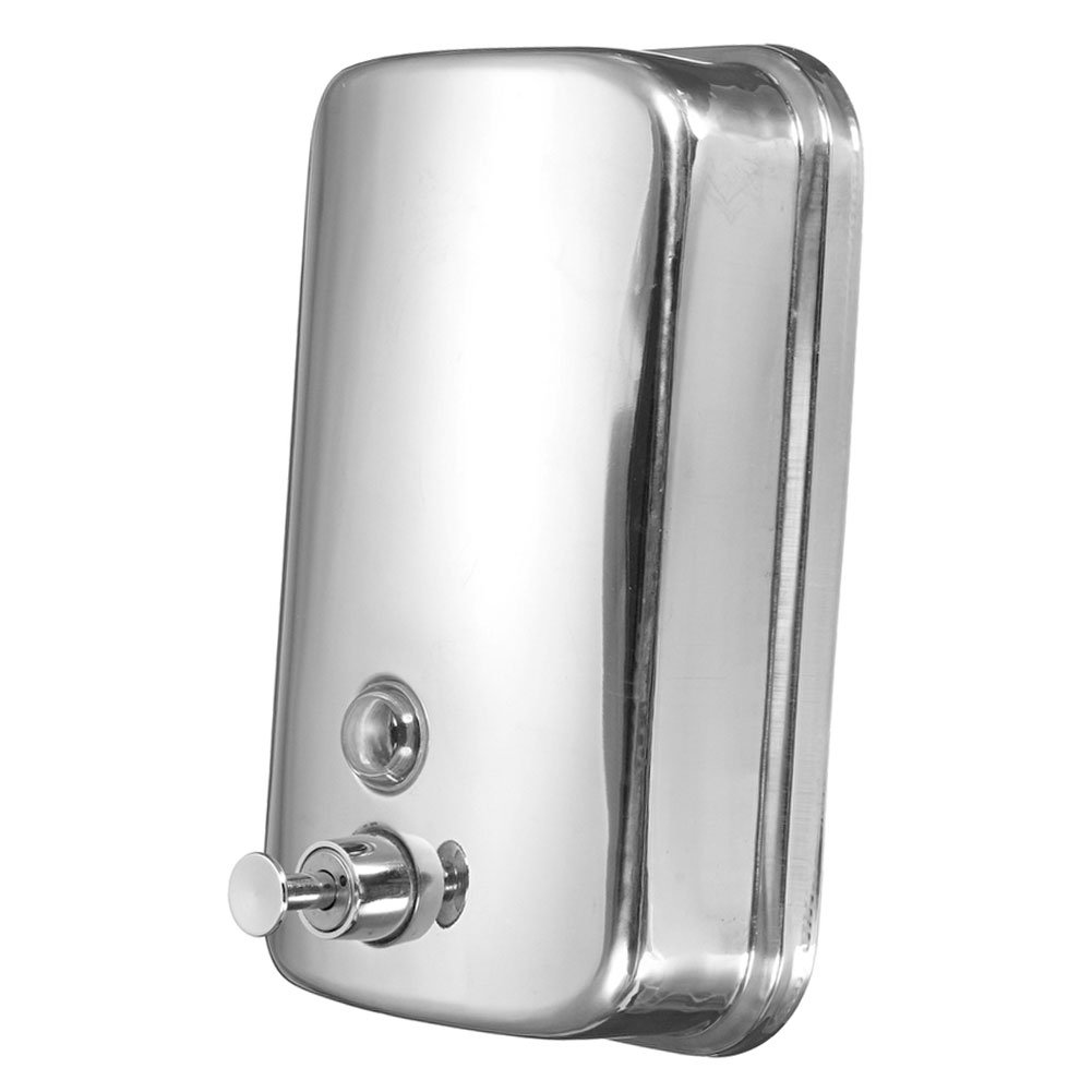 Zeroyoyo 500ML Stainless Steel Manual Wall-Mount Soap Dispenser for Hotel Bathroom Kitchen Silver