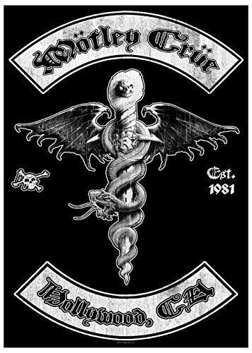 Motley Crue Hollywood Ca Logo Official Black Textile Flag Poster 104 X 65Cm