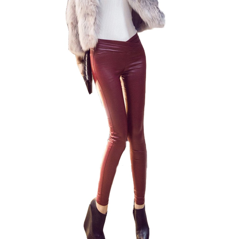 Laixing Fashion Women's Sexy Soft Faux Leather Pants Stretch Leggings  Trousers 8948: Amazon.co.uk: Clothing