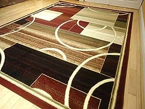 Amazon Com Contemporary Rug Multi Colored Area Rugs 8x11