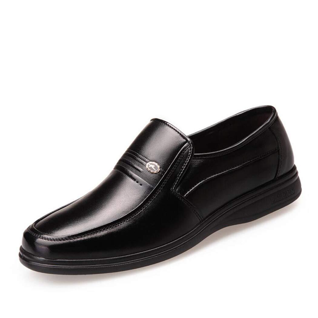 Zxcvb Herren Formelle Business Schuhe Top Layer Leder Herren Schuhe von mittlerem Alter Vater Schuhe (Farbe   Schwarz Farbe   39 EU)