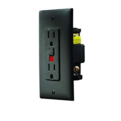 RV Designer S807, Dual Outlet GFCI with Cover Plate, Black, AC Electrical: Automotive