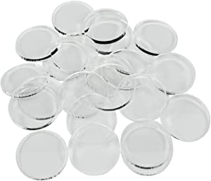 LITKO Clear Miniature Bases, Circular 1 Inch, 3mm Clear (25)