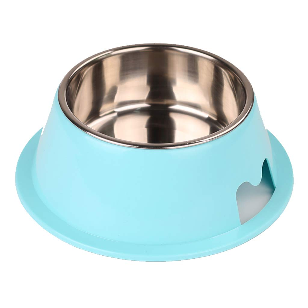 KTYX Pet Dual-use Bowl Cat and Dog Bowl Stainless Steel Non-Slip Pet Bowl bluee Pet Bowl