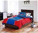 4 Piece NFL Buffalo Bills Comforter Twin Set, Sports Patterned Bedding, Featuring Team Logo, Fan Merchandise, Team Spirit, Football Themed, National Football League, Blue, Red, Unisex