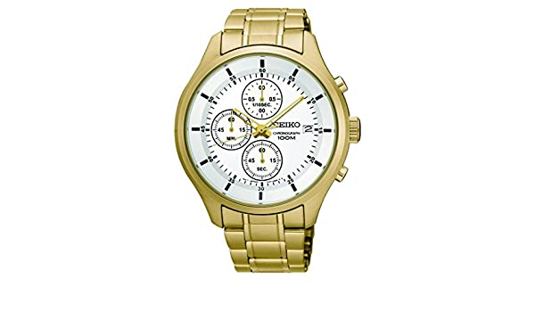 Amazon.com: Reloj Seiko Caballero SKS544P1 Color Acero con Dorado: Watches