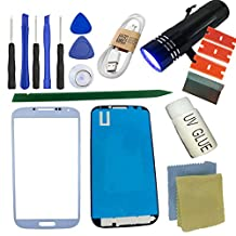For Samsung Galaxy S4 Screen Replacement Kit, Sunmall Front Outer lens Glass Screen Replacement Repair Kit For Samsung Galaxy S4 Samsung Galaxy S4 SIV I9500 L720 I545 I337 M919 R970 (White)