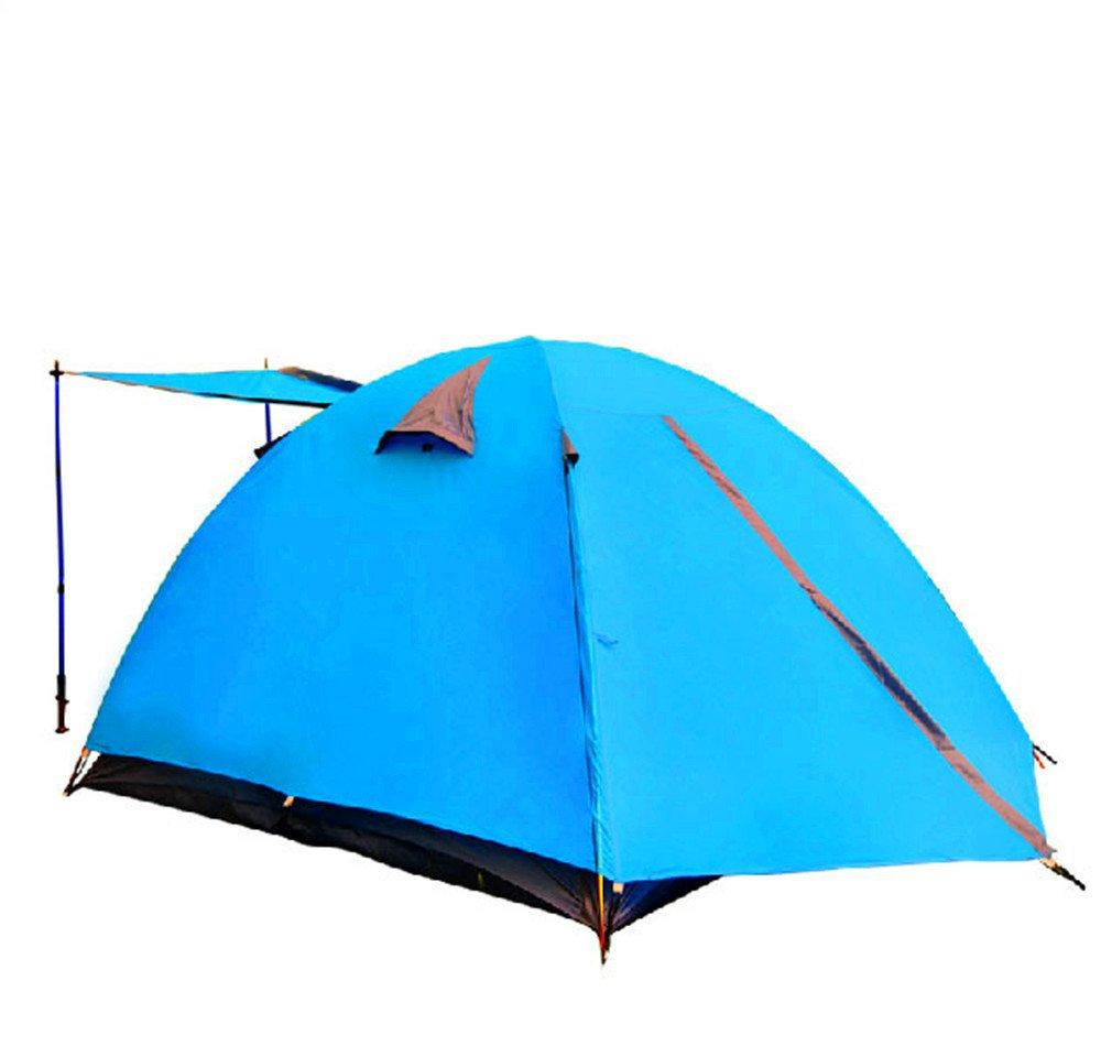 TLMY Cross-Border Outdoor-Aluminium-Stange 3-4 Doppel-Camping-Zelt Familie Camping Wasserdicht Hauptbergsteigen Zelte