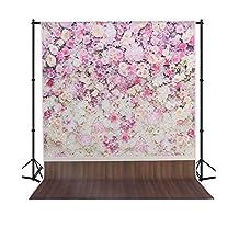 MEHOFOTO Seamless Photo Backdrop Studio Flower Photography Background Backdrop Wood Foor 5×7ft