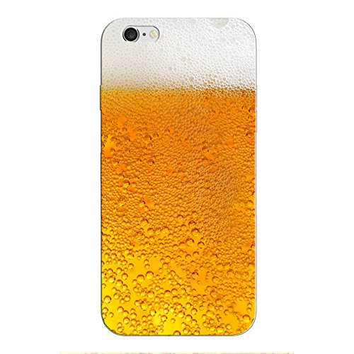 iPhone 8 Handyhülle Schutzhülle Hülle Silikon Cover Case Ultra Dünn Slim Backcover TPU transparent Bier 32c5G