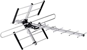 Monoprice Long Range Directional Outdoor VHF and UHF HDTV Antenna, 70 Mile Range, Anti-Rust, Waterproof and Weather Resistant, 139303