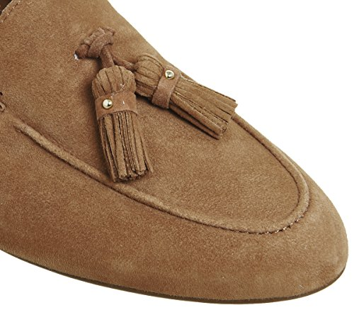 finishline cheap online Office Retro Tassel Loafers Tan Suede good selling online pay with paypal cheap price outlet really Q3NJJgs6o