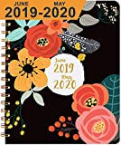 2018 Planner 6 Color Pens ~ Purse-Size 9'x7.5' ~ Daily, Weekly, Monthly Calendar ~ Boost Productivity for Moms, Teachers & Students ~ Hardcover Notebook ~ Dated Feb 2018 - Jan 2019