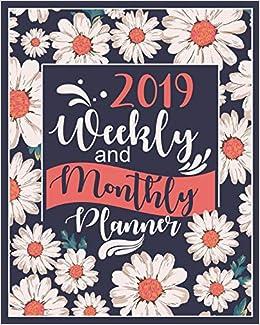 Calendar Lab December 2019 2019 Planner Weekly And Monthly: Calendar + Organizer   White