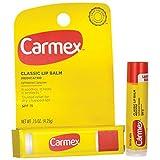 Carmex Lip Moisturizing Click-Stick With Sunscreen SPF#15 Original Balm 0.15 oz. (Pack of 12)