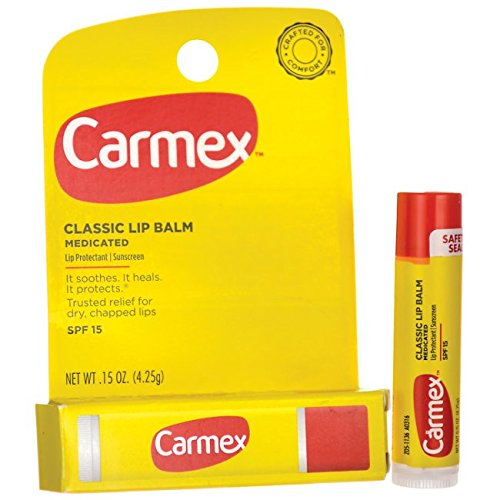 Carmex Lip Moisturizing Click-Stick With Sunscreen SPF#15 Original Balm 0.15 oz. (Pack of 12) 083078113179