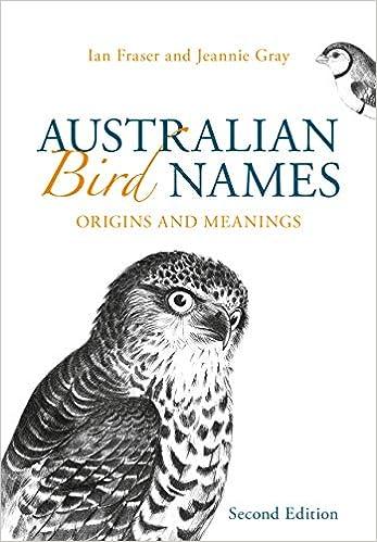Amazon Com Australian Bird Names Origins And Meanings 9781486311637 Fraser Ian Gray Jeannie Books