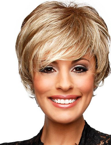 Wigs have an attractive convenience fashion Fashion Short Wavy Capless Human Hair Virgin Remy Mono Top Woman Wigs