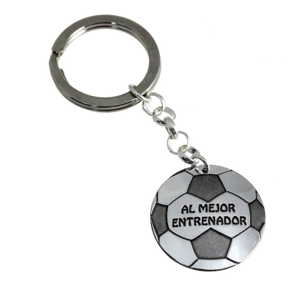 Minoplata Llavero balón de fútbol de Plata Al Mejor Entrenador ...