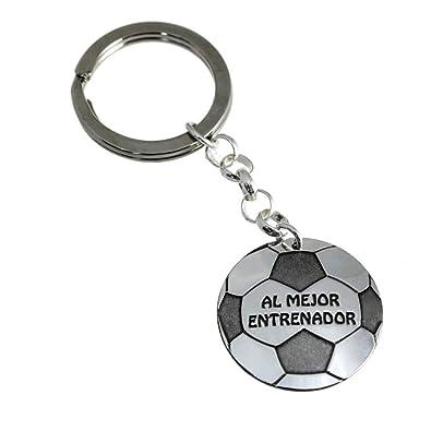 Minoplata Llavero balón de fútbol de Plata Al Mejor ...