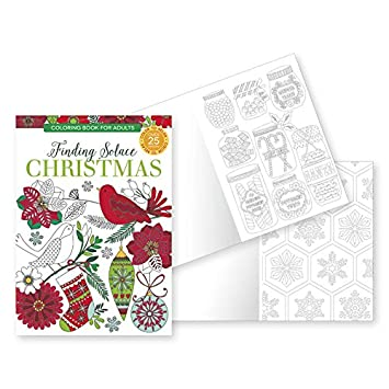 holiday adult coloring books finding solace christmas set of 2 coloring books over