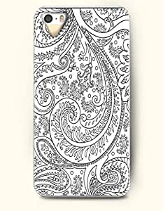 OOFIT Apple iPhone 4 4S Case Paisley Pattern ( Black and White Buteh Tree with Vigorous Leaves )
