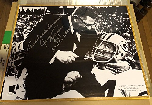 Autograph 16x20 Photo With Vince Lombardi Great Inscriptions Packers JSA Certified (Great Signed Autograph Photo)