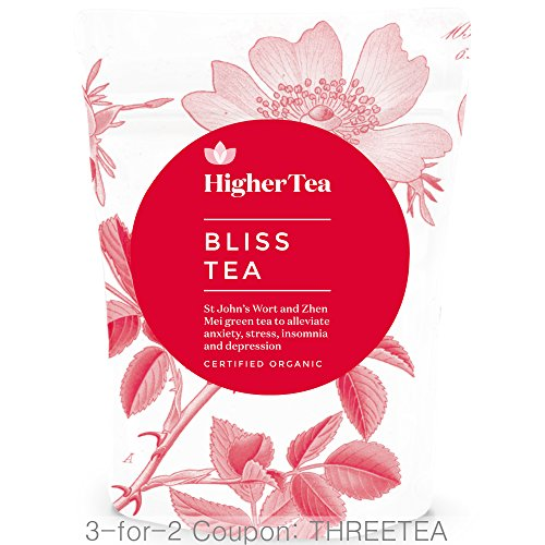Depression Tea 3 Oz, By Higher Tea (40 Cups) Certified Bliss Tea Organic Loose Leaf Tea with St Johns Wort for Anxiety, Stress, Depression and Poor Sleep. Return to Serenity - Codes Coupon Hut The