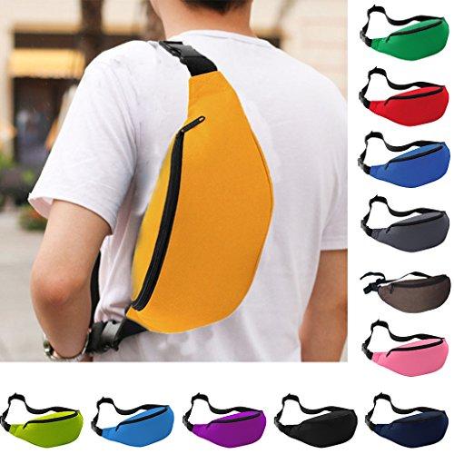 Praktische Brusttasche Hüfttasche Bauchtasche für Geld, Schlüssel und Handys usw. Sporttasche Grau