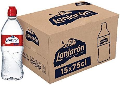 Lanjarón Agua Mineral con tapón sport - Pack de 15 x 75cl: Amazon.es: Alimentación y bebidas
