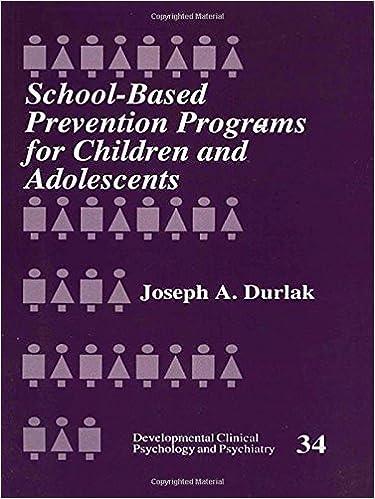 Téléchargez des livres gratuits au format epub School-Based Prevention Programs for Children and Adolescents (Developmental Clinical Psychology and Psychiatry) by Joseph A. Durlak (1995-07-26) en français CHM