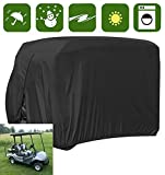Happybuy 2 Passenger Golf Cart Cover, Fits EZ GO, Club Car and Yamaha, Waterproof, Dustproof and Durable (Black)