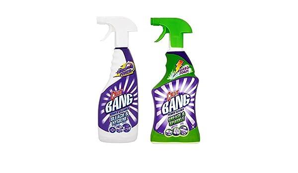 Paquete de múltiples Cillit Bang limpiador de la grasa y la chispa 750 ml y el poder limpiador de la botella andHygiene 750 ml (zafiro modas Ltd artículo): ...