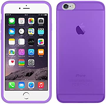 TBOC® Funda de Gel TPU Morada para Apple iPhone 6 / 6S (4.7 Pulgadas) de Silicona Ultrafina y Flexible: Amazon.es: Electrónica
