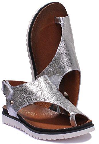 Femme silver Pour 7220 Justin Sandales Reece t1XtFI