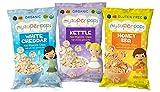 : MySuperPops Organic Mini Popcorn Chips (Gluten Free, Nut Free) (Variety Pack)