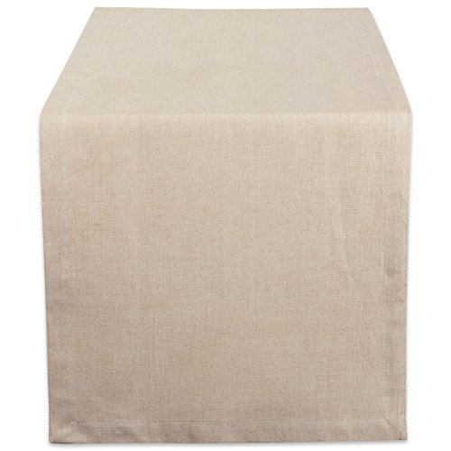 DII CAMZ38725 Natural Solid Chambray, Table Runner 14x72, Chambray Natural